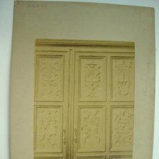 Fotografía antigua: TOLEDO, Nº 1405 - LA CATHEDRALE. SALLE CAPITULAIRE. DETAIL DE MEUBLES - L.LEVI - AÑOS 1880-1890. Lote 21241771