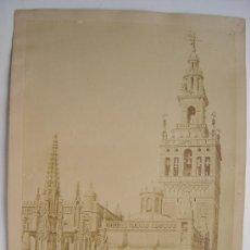 Fotografía antigua: SEVILLA, Nº 77 - VISTA SUD DE LA TORRE DE LA CATEDRAL - AÑOS 1880-1890. Lote 26971404