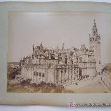Fotografía antigua: SEVILLA, 2 VISTAS - AÑOS 1880-1890. Lote 26835556