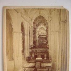 Fotografía antigua: SEVILLA, LA CATHEDRALE. LA NEF PRINCIPALE - L. LEVI - AÑOS 1880-1890. Lote 26971405