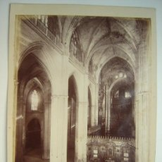 Fotografía antigua: SEVILLA, Nº 1375 -VISTA INTERIOR DE LA CATEDRAL DESDE LA TRIBUNA PUERTA- J. LAURENT - AÑOS 1880-1890. Lote 26971406