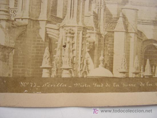 Fotografía antigua: SEVILLA, Nº 77 - VISTA SUD DE LA TORRE DE LA CATEDRAL - AÑOS 1880-1890 - Foto 2 - 26971404