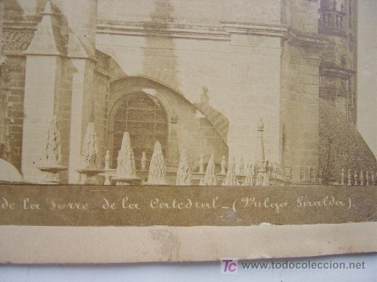 Fotografía antigua: SEVILLA, Nº 77 - VISTA SUD DE LA TORRE DE LA CATEDRAL - AÑOS 1880-1890 - Foto 3 - 26971404
