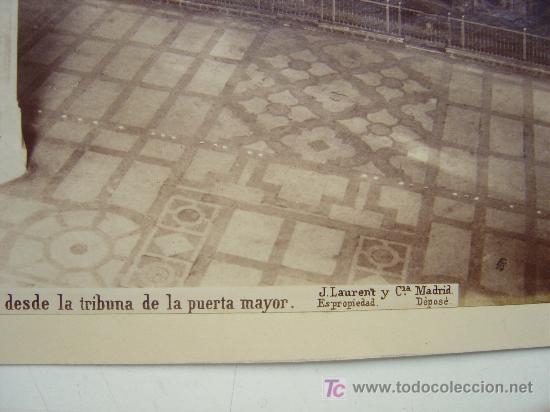 Fotografía antigua: SEVILLA, Nº 1375 -VISTA INTERIOR DE LA CATEDRAL DESDE LA TRIBUNA PUERTA- J. LAURENT - AÑOS 1880-1890 - Foto 4 - 26971406