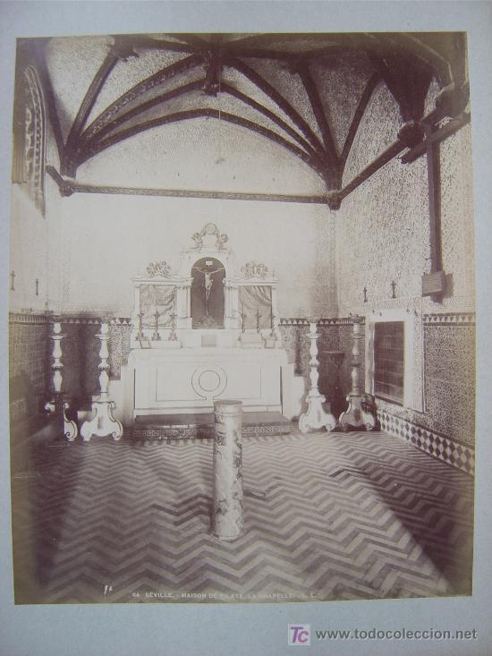 Fotografía antigua: SEVILLA, Nº 84 - MAISON DE PILATE. LA CHAPELLE- L. LEVI - AÑOS 1880-1890 - Foto 2 - 26971408