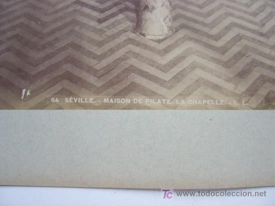 Fotografía antigua: SEVILLA, Nº 84 - MAISON DE PILATE. LA CHAPELLE- L. LEVI - AÑOS 1880-1890 - Foto 3 - 26971408