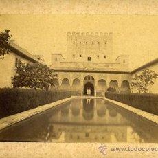 Fotografía antigua: FOTO ALBUMINA , ALHAMBRA DE GRANADA , . Lote 27560427