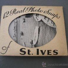 Fotografía antigua: 12 FOTOS DE ST IVES - INGLATERRA, AÑOS 60 APROX (7X9CM APROX). Lote 21860017