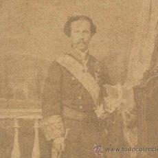 Fotografía antigua: 1856 FOTOGRAFIA ORIGINAL DEL REY CONSORTE FRANCISCO DE ASIS DE BORBON ARANJUEZ FOTO. Lote 24397132