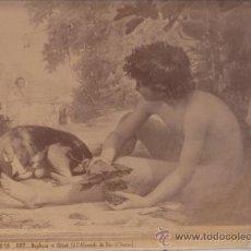 Fotografía antigua: TOFOGRAFÍA DE LAURENT - M. RODRÍGUEZ ACOSTA: DAPHNIS ET CHLOÉ - ALBÚMINA. Lote 22443169