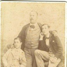 Fotografía antigua - ZARAGOZA. FAMILIA ARAGONESA AÑO 1897. ENRIQUE BELTRÁN. CABINET CARD. - 26577953