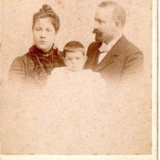 Fotografía antigua: FOTOGRAFIA ANTIGUA FAMILIA FOTOGRAFO MODELO. Lote 22997419
