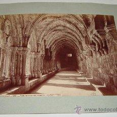 Fotografía antigua: ANTIGUA FOTOGRAFIA ALBUMINA DE POBLET (TARRAGONA) - 1213 - J. LAURENT - MIDE 33,5 X 25 CMS SIN INCLU. Lote 27267978
