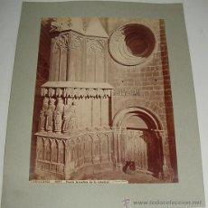Fotografía antigua: ANTIGUA FOTOGRAFIA ALBUMINA DE TARRAGONA - 1227 - PUERTA BIZANTINA DE LA CATEDRAL - J. LAURENT - MID. Lote 26947803