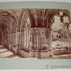 Fotografía antigua: ANTIGUA FOTOGRAFIA ALBUMINA DE TARRAGONA - 1212 - VISTA INTERIOR DEL CLAUSTRO - J. LAURENT - MIDE 33. Lote 27267984