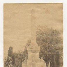 Fotografía antigua: ALICANTE. MONUMENTO A QUIJANO. (FOTO MASANET). 12 X 17 CM. (FOTOGRAFÍA, ALBÚMINA). Lote 24250214