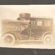 Alte Fotografie - Fotografía albúmina de un automóvil de finales del 1800. - 24316798