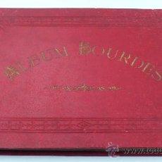 Fotografía antigua: ÁLBUM DE LOURDES, CON 12 ALBÚMINAS TAMAÑO 12X17 CM. TAMAÑO ÁLBUM: 21 X 30 CM. 1900'S APROX.. Lote 24401624