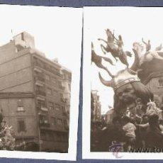 Fotografía antigua - VALENCIA. DOS VISTAS DE LA FALLA CONVENTO JERUSALEN: ELS INVASORS. AÑO 1969. 2º PREMIO - 25813163