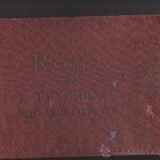 Fotografía antigua: FOTOGRAFIA ARTISTICA COMMERCIALE ROMUALDO MOSCIONI-ALBUM ROMA RICORDO DELL ANNO SANTO 1900. Lote 58666096