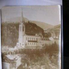 Fotografía antigua: FOTOGRAFIA ANTIGUA DE LOURDES. ALBUMINA. 25 X 18. Lote 27593832