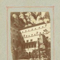 Fotografía antigua: BARCELONA. MONASTERIO DE MONTSERRAT. HACIA 1890. LOTE DE DOS GRANDES FOTOS.. Lote 27367318