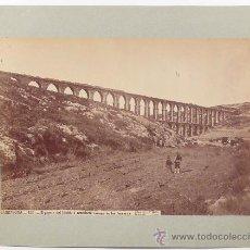 Fotografía antigua: TARRAGONA, EL ACUEDUCTO ROMANO. FOTOGRAFÍA DE LAURENT, 1870'S. 23,5 X 33,7 CM, SOPORTE: 42X32 CM. Lote 27271163