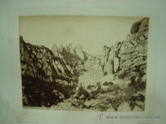 J.LAURENT. MONTSERRAT (BARCELONA) 1201 - VISTA DEL MONASTERIO POR EL LEVANTE (Fotografía Antigua - Albúmina)