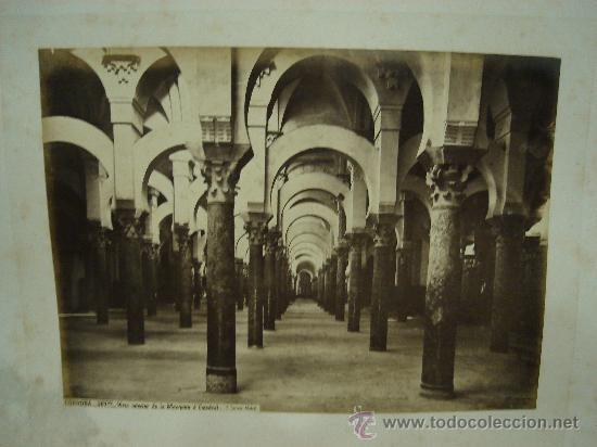 J.LAURENT. CORDOBA 307. VISTA INTERIOR DE LA MEZQUITA O CATEDRAL (Fotografía Antigua - Albúmina)