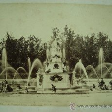 Fotografía antigua: J.LAURENT. SAN ILDEFONSO 110 - FUENTE DE LATONA O DE LAS RANAS. Lote 24891645