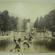 Fotografía antigua: J.LAURENT. SAN ILDEFONSO 108 - LA CARRERA DE CABALLOS. Lote 24891718