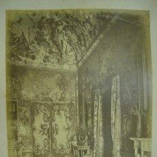 Fotografía antigua: J.LAURENT. MADRID 760 - SALON DE CARLOS III. Lote 24891774