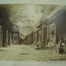 Fotografía antigua: J.LAURENT. MADRID 755 - VISTA GENERAL DE LA SALA DEL TRONO (PALACIO REAL). Lote 24891790