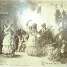 Fotografía antigua: J.LAURENT. JROUGERON 789 - DANSE DE GITANAS OU BOHEMIENNES. Lote 24892901