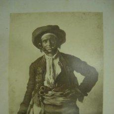Fotografía antigua: J.LAURENT. ROUGERON 812 - BOHEMIEN TONDEUR DE MULETS. Lote 24892938