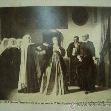 Fotografía antigua: J.LAURENT. JLOZANO 593 - MARIANNER PINEDA FAISANT SES ADIEUX AUX SOEURS DE STA MARIE EGYPTIENNE. Lote 24893126