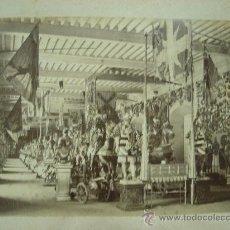 Fotografía antigua: J.LAURENT - VISTA GENERAL INTERIOR DE LA ARMERIA. Lote 24910449