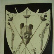 Fotografía antigua: J. LAURENT . 177 - ESCUDO DE ARMAS VARIAS. Lote 24910638