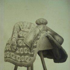 Fotografía antigua: J. LAURENT . SILLA DE BATALLA DEL REY FELIPE II. Lote 24910929
