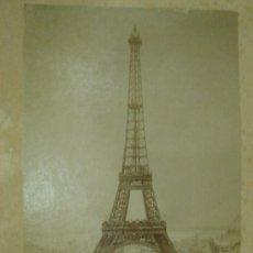 Fotografía antigua: FOTOGRAFIA. TORRE EIFFEL EN CONSTRUCCION. MEDIDAS: 35CM X 26CM. Lote 24912034