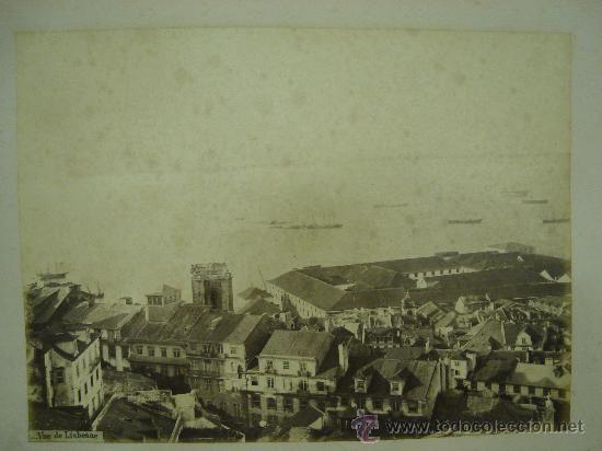 J.LAURENT - VISTA DE LISBOA (Fotografía Antigua - Albúmina)