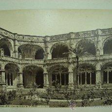 Fotografía antigua: J.LAURENT - BELEM (PORTUGAL) 802. COUR DU CLOITRE DE SAN JERONIMO. Lote 24912189