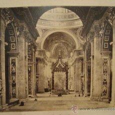 Fotografía antigua: FOTOGRAFIA DE SAN PEDRO EN ROMA DE AUTOR DESCONOCIDO. Lote 24912270