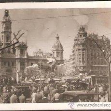 Fotografía antigua: VALENCIA. FALLA PLAZA DEL CAUDILLO. SO QUELO. AÑO 1945. Lote 26339810