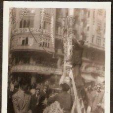 Fotografía antigua - VALENCIA. MONTAJE FALLA PLAZA DEL CAUDILLO AÑOS 40. - 26465179