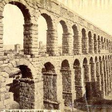 Fotografía antigua: SEGOVIA. VISTA GENERAL DEL ACUEDUCTO ROMANO. J. LAURENT. Lote 25113485