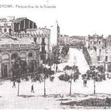 Fotografía antigua: 1912-1914 - GRAN VIA (GIRONA) - 20X16. Lote 25300424