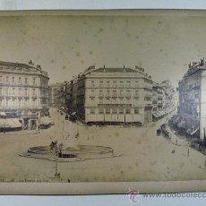 Fotografía antigua: MADRID. Nº 42. LA PUERTA DEL SOL. J. LAURENT MADRID. SIGLO XIX GRANDE. Lote 26994113