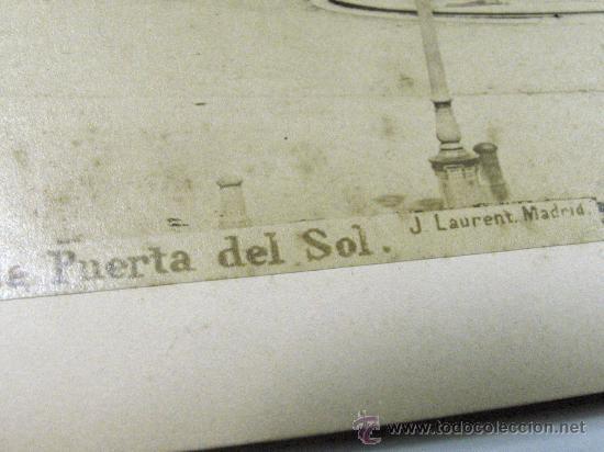 Fotografía antigua: MADRID. Nº 42. LA PUERTA DEL SOL. J. LAURENT MADRID. SIGLO XIX GRANDE - Foto 3 - 26994113