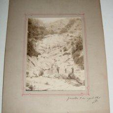 Fotografía antigua: ANTIGUA FOTOGRAFIA ALBUMINA DE GUALBA (BRCELONA) FECHADA EN 9 DE AGOSTO DE 1903 - MIDE 27 X 21 CMS. . Lote 27268010